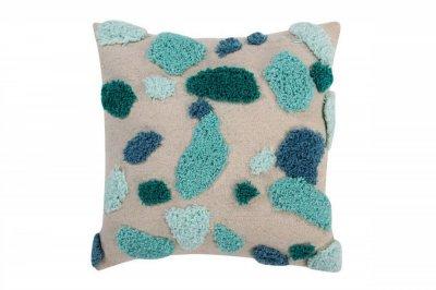 ecarpets Lorena canals cushion terrazzo emerald 40x40