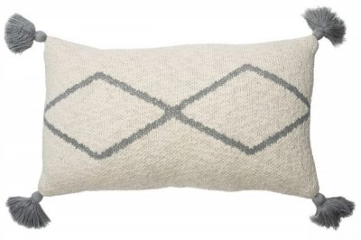 ecarpets Lorena canals cushion little oasis natural grey 25x40