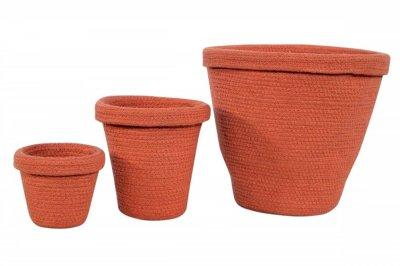 ecarpets Lorena canals pot basket terracota 13x12,20x20,30x30