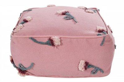 ecarpets Lorena canals cushion pouffe english garden ash rose