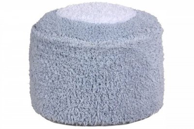 ecarpets Lorena canals cushion pouffe marshmallow round light blue