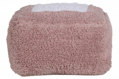 ecarpets Lorena canals cushion pouffe marshmallow square vintage nude