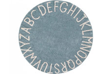 ecarpets Lorena canals round ABC vintage blue-natural