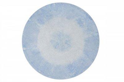 ecarpets Lorena canals tie-dye soft blue round