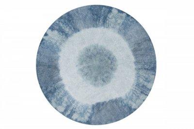 ecarpets Lorena canals tie-dye vintage blue round