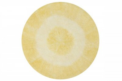 ecarpets Lorena canals tie-dye yellow round