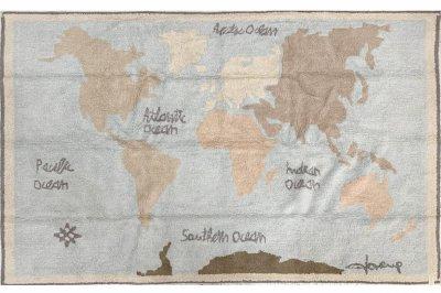 ecarpets Lorena canals vintage map