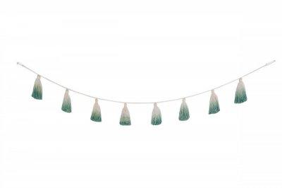 ecarpets Lorena canals pom pom garland tie-dye green