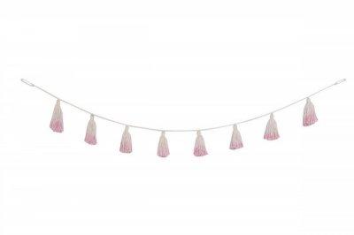ecarpets Lorena canals pom pom garland tie-dye pink