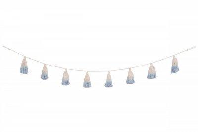 ecarpets Lorena canals pom pom garland tie-dye soft blue 170cm