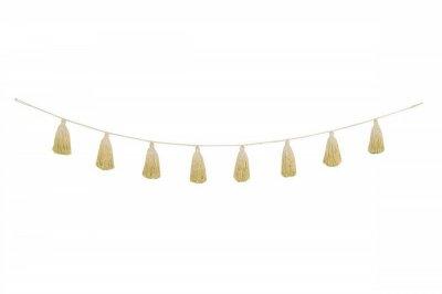 ecarpets Lorena canals pom pom garland tie-dye yellow 170cm