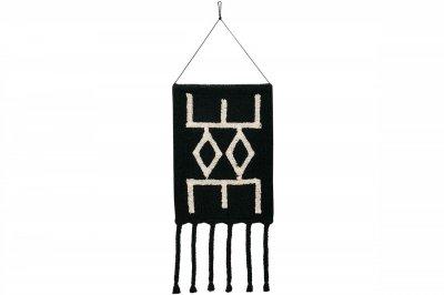 ecarpets Lorena canals wall hanging bereber black 40x45