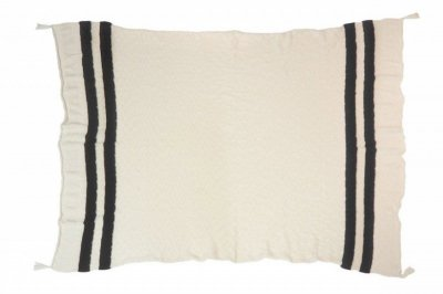 ecarpets Lorena canals knitted blanket stripes - Natural/Black