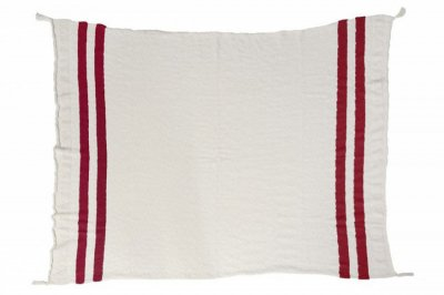ecarpets Lorena canals knitted blanket stripes - Natural/Burgundy
