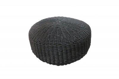 ecarpets Matera black pouf Ø60x30