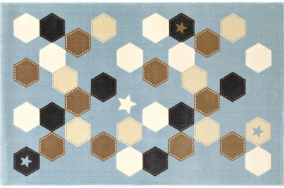 ecarpets Saint clair polygon light blue