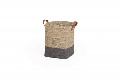 ecarpets Seagrass basket square with handles small