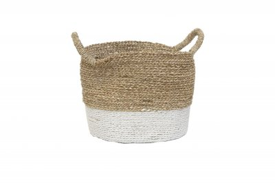 ecarpets Seagrass basket with handles Ø30x25