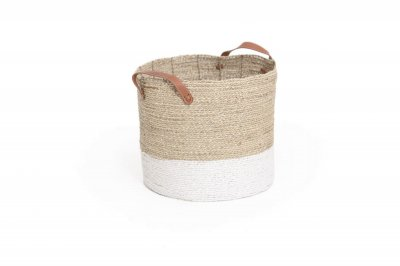 ecarpets Seagrass basket with handles small Ø30x25