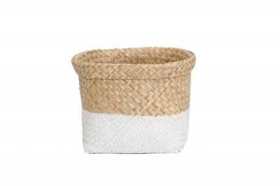 ecarpets Tasmania basket flip-out top edje natural with white m 24x31