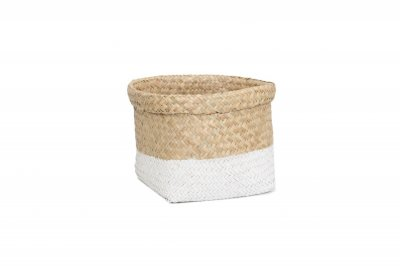 ecarpets Tasmania basket flip-out top edje natural with white s 18x24
