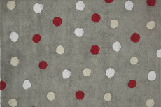 ecarpets Lorena canals topos tricolor grey rojo red