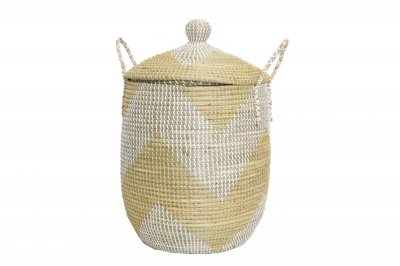 ecarpets Tortilla basket yellow with cap l Ø43x65
