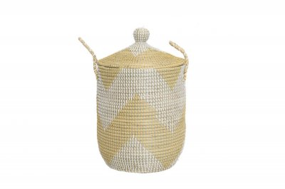 ecarpets Tortilla basket yellow with cap m Ø37x50