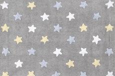 ecarpets Lorena canals tricolor stars gris azul