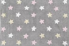 ecarpets Lorena canals tricolor stars gris rosa
