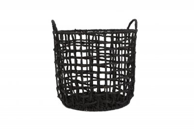 ecarpets Twisted basket water black with handles l Ø35x40