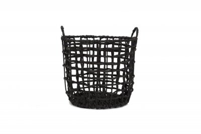 ecarpets Twisted basket water black with handles m Ø35x30