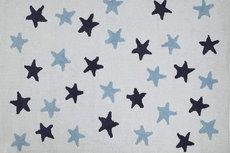 ecarpets Lorena canals white messy stars azul marino blue navy